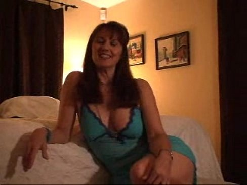 Very hot brunette busty babe jerks the aroused cock 7